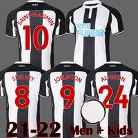 22 22 NUFC Футбол Джетки Shelley 2021 2022 Комплекты Joelinton Футбольная рубашка Almiron Ritchie Gayle Men Kits Kits Оборудование