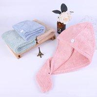 Piña Plaid Caps de pelo seco Toalla Microfibra Rapido Secado Ducha Peluques Hats Turban Wrap Sombrero Spa Baño Tapa HHC7170