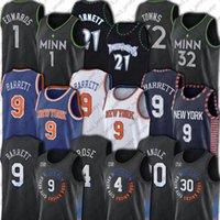 "RJ Kevin Barrett Garnett Derrick Julius Rose Randle Jerseys Patrick Anthony Ewing Edwards New York ""Knicks"" Timberwolves ""Jersey"