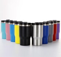 Mugs 25pcs lot Wholesale 4-in-1 Cold Bottle Can Cooler 14oz Double Wall Vacuum Insulated Skinny Beer Holder With Two Lids