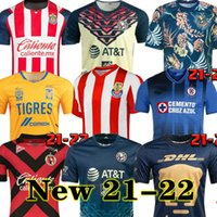21 22 Club America Home Away Fussball Trikots 2021 2122 Unam Dritter Leon Naul Tigres Chivas Guadalajara Xolos Tijuana Cruz Azul Kit Camisas de Futebol Football Hemden