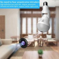 360 Panoramic Wifi Camera E27 Light Bulb HD 1080P Security IP Camera Built In Noise Reduction Microphone And Speaker