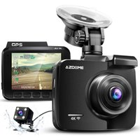 4K intégré GPS WiFi voiture DVR Recorder Dash Cam Dual Lentille Véhicule arrière Vue arrière Caméscope Night Vision Dashcam (Retail)