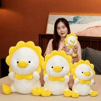 25-60cm Duck Plush Toys Cute Pillow KawaiiDucks Stuffed Doll Toy For Children Throw Pillows Birthday Gift