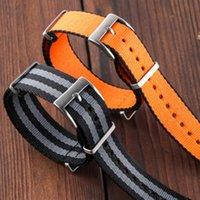 Great Bands Grid Nato Style Spécial Fabric Bracelet Bracelet Bracelet de Nylon de 20mm pour 007 BB58 1958 Black Bay Master