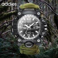 Addies G Men's Militar Relógio Com Bússola 3bar Relógios Impermeáveis Movimento Digital Moda Ao Ar Livre Esporte Casual Homens Pulso de Pulso