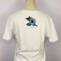 Kadın Giyim Tops Tees Kısa Kollu T-shirt Yeni Yaz Harfleri Baskılı Pamuk Gevşek G T-shirt Yuvarlak Boyun Kısa Kollu Nakış Kısa Kollu Tee Gömlek Boyutu S-XL