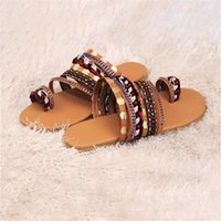 Sandals Women's Flat Bottom Woven Handmade 2021 Summer European And American Style Foreign Trade Low Top Large Shoes