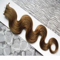 Лента в наращиваниях человеческих волос 100 г кожи уток ленты волос наращивания волос 40 шт. Лот Бразильская волна тела Волны Products