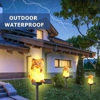 Lawn Lamps Kitten Shape Night Lights LED Garden Solar Waterproof Home Creative Solar-Powered Lamp