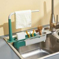 Kitchen Storage & Organization Sink Shelf Sinks Organizer Soap Sponge Holder Drain Rack Basket Gadgets Supplies Tool