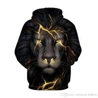 Men's Hoodies & Sweatshirts designer hoodie sweatshirt mens clothing 3D Print vetements fashion Animal Wolf Lion tracksuit me