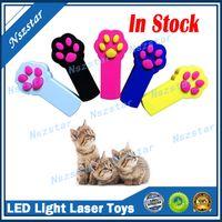 Cat Footprint Shape LED Light Laser Toys Laser Tease Funny Cat Rods Pet Cat Toys Creative