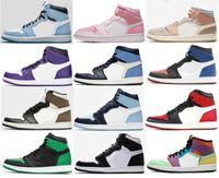New 1 University Blue Twist Mid Milan Digital Pink Lightbulb Chicago Basketball Shoes Men 1s Top 3 Bred Toe Court Purple UNC Patent Sneakers