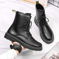 High-quality fashionBrand designer Martens winter Martin boots high-top fashion warmth Dr. locomotive blac