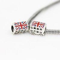 Britische Busöl tropfende Charme Perle 925 Silber Überzogene Mode Frauen Schmuck Atemberaubende Design Europäischen Stil für DIY Armband 51 W2