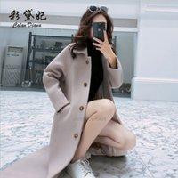 Qualität Herbst 2020 Frauen Wollmantel mit Revers CollarxhZyit