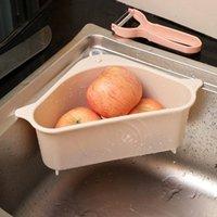 Küchenaufbewahrungsgestelle Ablaufkörbe Regale mit Saugnapf Waschbecken Ecke Kunststoff Schwamm Pinsel Tuch Siebkorb Entleerende DHB7351