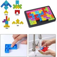 Decompression Toy Tetris Big Game Rainbow Chess Board Push Bubble Fidget Sensory Stress Relief Interactive PartyGame puzzle Toys 1758 T2