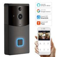 Kapı Zili Akıllı WiFi Görüntülü Kapı Telefonu Güvenlik Kapı Zili Kablosuz Görsel İnterkom Ev Uzaktan Alexa Google ile Uyumlu