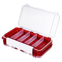 Fishing Accessories Double-layer Waterproof Tackle Box Lure Hook Bait Storage Outdoor (Red)
