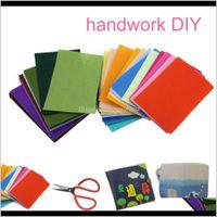 40 pcs misture cor 10x15 cm não tecido de feltro tecido 1mm espessura poliéster pano feltros pacote para DIY Costura Dolls Crafts M2ICG A7L1C