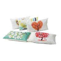 Cojín / almohada decorativa 3 colores cojín cubierta 30x50cm caja rectángulo para sala de estar sofá algodón lecho de lino funda de almohada decoración del hogar