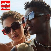 Sunglasses AKA VISION Rectangle Vintage Women Square Glasses Women Men Brand Designer Small Eyewear Gafas De Sol Hombre