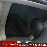 Model3 Sunshade Car Sun 바이저 리어 프론트 태양 그늘 테슬라 모델 3 지붕 스카이 라이트 보호 액세서리 모델 3