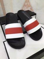 Klassiker Paris Fahsion Frauen Hausschuhe Sommer Mädchen Strand Folien Schwarz Weiß Rot Flip Flops Floral BROCADE Getriebe Bottoms Sandalen NN0413