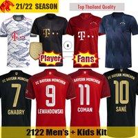 20 21 Bayern München Fußballtrikots SANE LEWANDOWSKI Fans & Player Version Bayern MULLER GNABRY ZIRKZEE DAVIES Fußballtrikot Herren Jersey Kinder-Kit