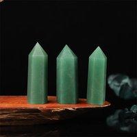 자연 동글 옥 생 석재 세련된 육각형 단일 뾰족한 에너지 크리스탈 열 홈 오피스 풍수 쥬얼리 선물
