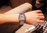 디자이너 전체 다이아몬드 시계 ode to Joy National Retro Strand Strap 시계 별이 빛나는 하늘 인기있는 스퀘어 플레이트 여성 시계 모조 다이아몬드 Fashio