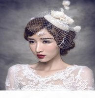 Fashion Hair Accessories Headdress New Cover Mesh Veil Hat Type Head Flower