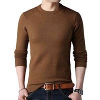 TFETTERS Bahar Sonbahar Örme Kazak Erkekler Uzun Kollu O-Boyun Adam için Katı Renk Gri Slim S Boy M-4XL