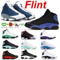 Anahtarlık 13s 13 Siyah Hiper Kraliyet Ayakkabı Şanslı Yeşil Flint Alternatif Barons Hologram Eğitmenler CP3 Ev Tanımlama Anlar Erkekler Basketbol Sneakers