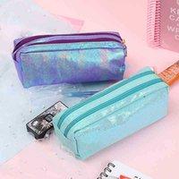 Сумки карандаша PU Kawaii большая емкости посадочные посадочные сумки сумка студент школьные кабинеты поставки канцелярских товаров подарок для девочек Pens 5LFP