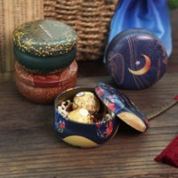 Mini Tin Box for Candy Party Favor Package Vintage Empty Candle Jar Tinplate Can Chocolate Container Cute Christmas Small Gift Packaging