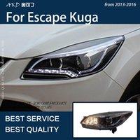 Autre Système d'éclairage Système de voiture AKD pour ÉVALES KUGA 2013-2021 LED Headlight Drl Brouillard Lampe Turn Signal Signal Light Faible Beam Ange Eye Proje
