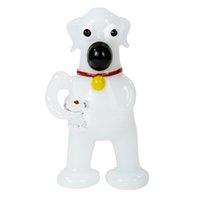 جودة عالية الزجاج الأبيض اليشم الكلب لطيف جرو أنابيب أشتات اليد أنابيب التدخين الجملة الملونة حزمة التبغ البسيطة الفوار