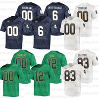 Jerseys de football d'un collège irlandais sur mesure 3 Joe Montana 45 Rudy Ruretttiger 12 Ian Réserver 23 Kyren Williams 25 Chris Tyree