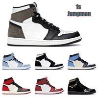 أعلى جودة أحذية كرة السلة jumpman 1 1 ثانية عالية الصنوبر الأخضر الأسود المحكمة الأرجواني الملكي bred toe nc ung unc لعبة تشغيل أحذية رياضية المدربين AJ1