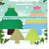 5PCS DHL 49.5CM Large Big Christmas Tree Fidget Toy Sensory Macaron Tie Dye Xmas Tree Shape Push Bubbles Popper Board Kids Adult Anti Anxiety Stress Relief H924CEPU