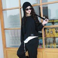 Max Lulu Luxo Coreano Novo Designer Primavera Senhoras Cinza Loose t - shirts Mulheres Casuais Fitness Sólido Tops O-pescoço roupas mais tamanho