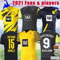 21 22 22 دورموند المشجعين اللاعبين Soccer Jersey 2021 2022 Haaland الإصدار الخاص Reus Home Bellingham Sancho Brandt بعيدا كرة القدم قميص Balr Size S - 4XL