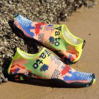 (el enlace para la orden de la mezcla) zapatillas antideslizantes Aqua-shoes nadando-agua Unisex playa mujer plana adulto suave