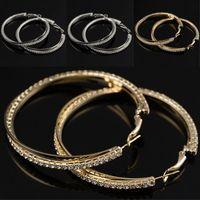 Невеста ювелирные изделия Личности Супер Большие круги Серьги Hoop для женщин Мода Золото-Цвет Ювелирные Изделия Бижус Модный Заявление Серьги 317 J2