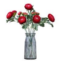 Künstliche Blumen strömen zwei kleine Pfingstrosen Hochzeit Requisiten Dekoration Home Wohnzimmer Dekoration Blume Künstliche Pfingstrose T500635