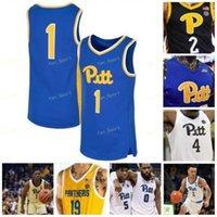 NCAA College Pitt Panthers Baloncesto Jersey 12 Joe Mascaro 13 Khameron Davis 14 Curtis Aiken Jr 15 Kene Chukwuka cosido personalizado