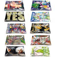 Glassablage Anti-Drop Slip-resistente RollingTrays-Tasche 16 * 12cm dicke Tabak-Tabletts für Pipes-Papiere-Schleifmaschinen